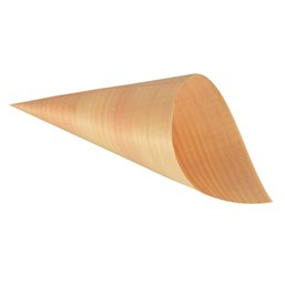 "Amuse Cone made of Wood ""Pure"" Ø 6,5cm 12,5cm"