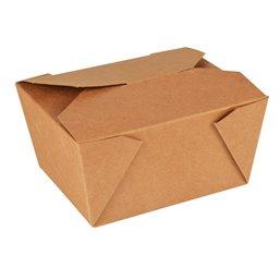 "Lunch Box Cardboard ""Pure"" 750ml 6,3cm x 9cm x 11,3cm Brown"