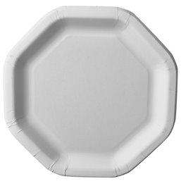 "Cardboard Plates ""Pure"" 8-hoekig 235 x 235mm White"