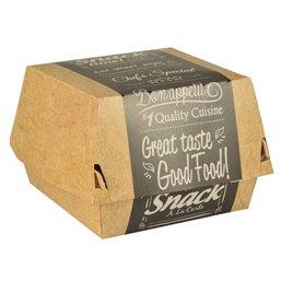 "Hamburger Box Cardboard ""Good Food"" 113 x 110 x 70mm"