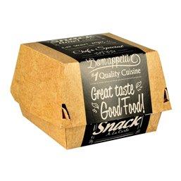 "Hamburgerbakken Karton ""Good Food"" 113 x 110 x 70mm"