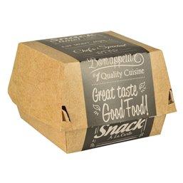 "Hamburger Box  Klein Cardboard ""Good Food"" 90 x 90 x 70mm"