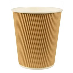 "Drinking Cups Cardboard ""Pure"" 100ml Ø 60mm 6cm ""Ripple Wall"""