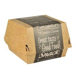 """Hamburger Box Mini Cardboard """"Good Food"""" 65 x 65 x 69mm"""