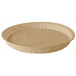 """Baking Tins Parchment Paper """"Pure"""" 835ml Ø 24,6cm x 2,3cm Brown"""