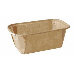 """Baking Tins Parchment Paper """"Pure"""" Rectangular 167ml 4cm x 6,5cm x 11cm Brown"""