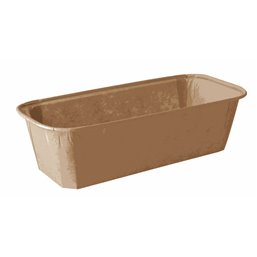 """Baking Tins Parchment Paper """"Pure"""" Rectangular 523ml 5cm x 8,5cm x 18,8cm Brown"""