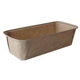 "Baking Tins Parchment Paper ""Pure"" Rectangular 1033ml 6,1cm x 10,8cm x 23cm Brown"