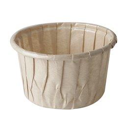"""Baking Tins Parchment Paper """"Pure"""" 105ml Ø 7cm x 4cm Brown"""