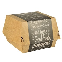 "Hamburger Box Cardboard ""Good Food"" 90 x 90 x 70mm"