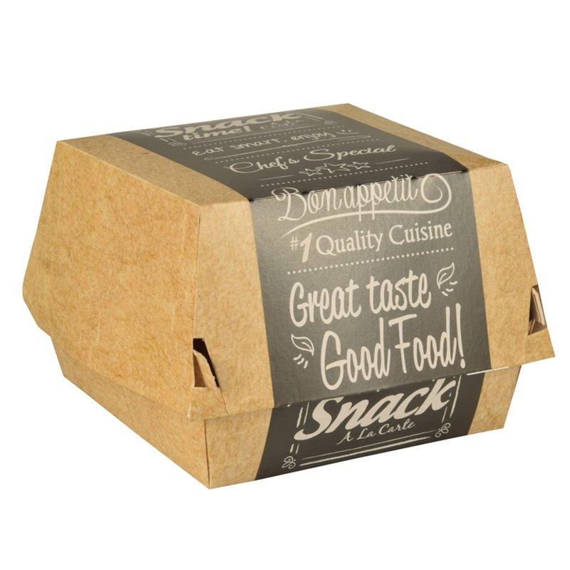 """Hamburgerbak Karton """"Good Food"""" 90 x 90 x 70mm  Horecavoordeel.com"""