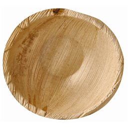"Palm Leaf Trays ""Pure"" Round 425ml Ø 15 x 6,5cm"