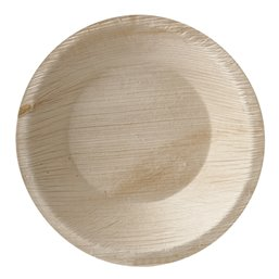 "Palm Leaf Trays ""Pure"" Round 300ml Ø 15 x 3cm"