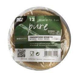"Amuse Trays Bamboo ""Pure"" Round 55ml Ø 7,5cm 3cm"