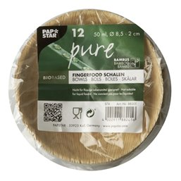 "Amuse Trays Bamboo ""Pure"" Round 50ml Ø 8,5cm 2cm"