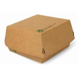 """Hamburger Box Big """"100% FAIR"""" 115 x 110 x 70mm"""
