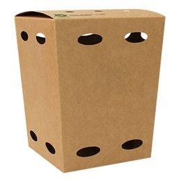 "Fries boxes Small ""100% FAIR"" 105 x 105 x 150mm"