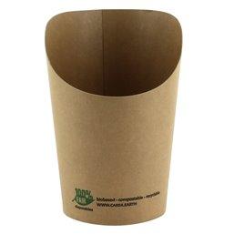 "Scoop Container Wrap Cups 8oz """"100% FAIR"""" 230ml  80 x 60 x 113mm"