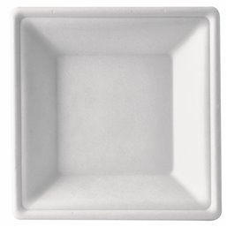 "Deep Plates made of Sugarcane ""Pure"" Rectangular 45 x 260 x 260mm White"