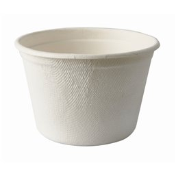 "Soup Bowls made of Sugarcane ""Pure"" 3ml Ø 100 x 64mm White"