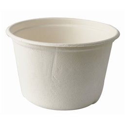 "Soup Bowls made of Sugarcane ""Pure"" 600ml Ø 140 x 90mm White"