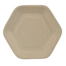 "Amuse Trays made of Sugarcane  ""Pure"" 13cm x 11,2cm Natural ""Hexagon"""