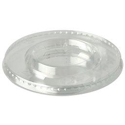 "Deksels PLA ""Pure"" Rond Glashelder met Kruisgat Ø 95mm"