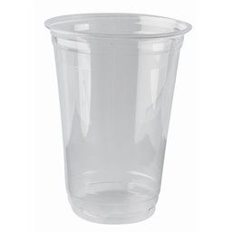 "Drinking Cups PLA ""Pure"" 400ml Ø 95mm 12,7cm ""Crystal Clear"" ""For Cold Drinks"""