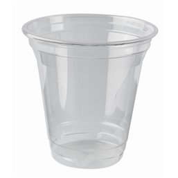 "Drinking Cups PLA ""Pure"" 200ml Ø 95mm 9,59cm ""Crystal Clear"" ""For Cold Drinks"""