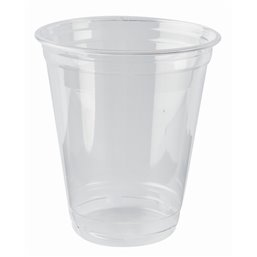 "Drinking Cups PLA ""Pure"" 300ml Ø 95mm 10,68cm ""Crystal Clear"" ""For Cold Drinks"""