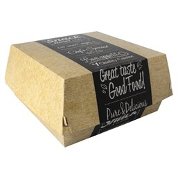 "Hamburgerbakken Groot Karton ""Good Food"" 155 x 155 x 90mm"