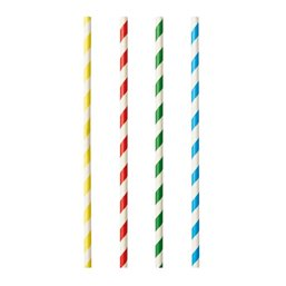 "Milkshake Paper Straws ""Pure"" Ø 8mm x 21cm Colour variables ""Stripes"""