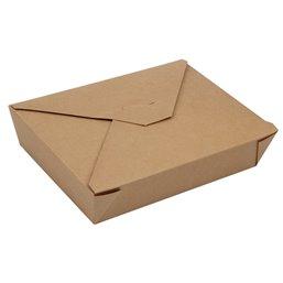 """Lunchboxen 1500ml Karton Bruin """"Pure"""" 197x 140 x 48mm Horecavoordeel.com"""