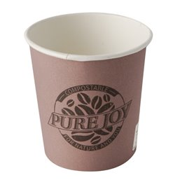 "Drinkbekers 100ml ""Pure"" Karton Paars ""Pure Joy"" Ø 60 x 60mm"