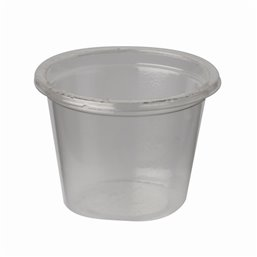 """Portie Cups 30ml PLA """"Pure"""" Rond Transparant Ø 46 x 33mm"""