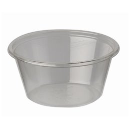 """Portie Cups 60ml PLA """"Pure"""" Rond Transparant Ø 62 x 30mm"""