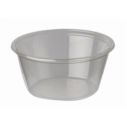"""Portie Cups 100ml PLA """"Pure"""" Rond Transparant Ø 74 x 35mm"""