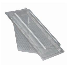 "Sandwichbox PLA met Klapdeksels ""Pure"" Rechthoek Glashelder Klein 88 x 85 x 167mm"