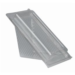 "Sandwichbox  PLA with Hinged Lid ""Pure"" Rectangular 88 x 85 x 167mm Transparent Small"