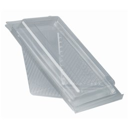 "Sandwichbox  PLA with Hinged Lid ""Pure"" Rectangular 70 x 100 x 178mm Transparent medium"