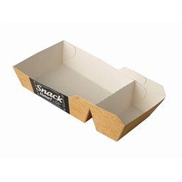"""Snack Box A14 + 1 (A20) Cardboard """"Good Food"""" 165 x 85 x 35mm"""