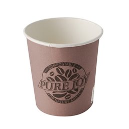 "Cardboard Drinking Cups ""Pure"" 100ml Ø 6cm 60mm Purple ""Pure Joy"""