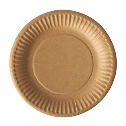 "Cardboard Plates ""Pure"" Round Ø 150mm Brown"