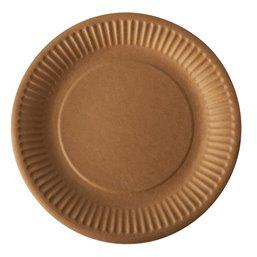 "Cardboard Plates ""Pure"" Round Ø 190mm Brown"