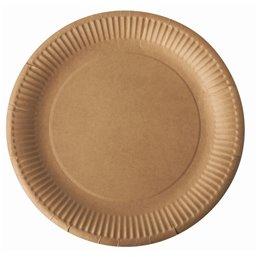 "Cardboard Plates ""Pure"" Round Ø 230mm Brown"