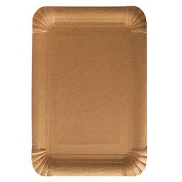 """Schaaltjes Karton Ongevoerd """"Pure"""" Rechthoek Bruin 180 x 260mm"""