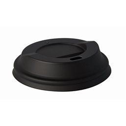 "Lids C-PLA ""Pure"" Round Ø 80mm Black"