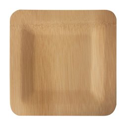 "Plates made of Bamboe ""Pure"" Rectangular 15 x 180 x 180mm"