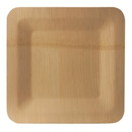 "Plates made of Bamboe ""Pure"" Rectangular 15 x 255 x 255mm"