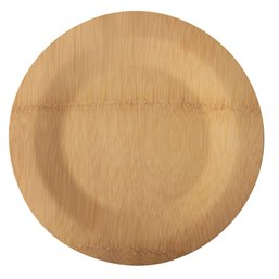 """Plates made of Bamboe """"Pure"""" 1-compt. Ø 230 x 15mm"""